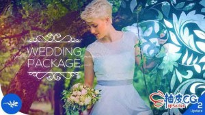 AE模板 浪漫婚礼庆典照片画廊幻灯展示 Wedding Package