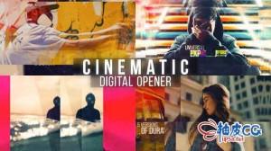 AE模板 现代婚庆旅游照片相册时尚专业幻灯 Cinematic Digital Opener - Multipurpose Slideshow