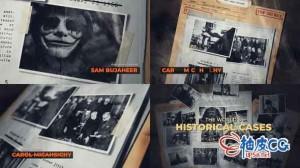 AE模板 电影神秘冒险黑暗色创意揭秘片头History  Secret Files