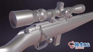 Blender创建硬表面枪支3D模型视频教程
