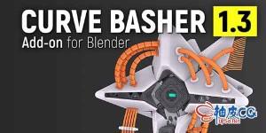 Blender曲线生成器插件 ARMORED Curve Basher