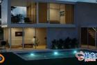 Blender设计创建照片级房屋建筑3D模型效果