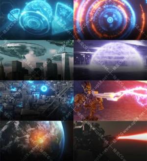 317个科幻激光HUD黑洞地球旋转宇宙飞船枪械高清视频素材