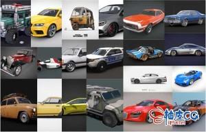 Blender精细汽车3D模型合集