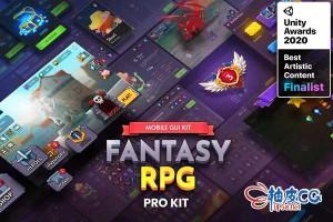 Unity幻想风格游戏完整UI资源 GUI PRO Kit - Fantasy RPG v1.3.5
