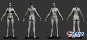 ZBrush女性角色精细3D模型