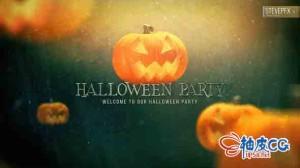 AE模板 好莱坞万圣节夜总会怪异片头预告 Halloween Party Promo