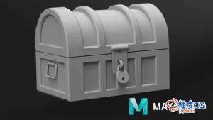 Maya逐步创建宝箱3D模型初学入门视频教程