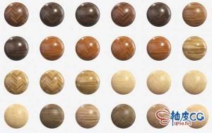 102组高清木头木纹木地板PBR贴图纹理素材合集